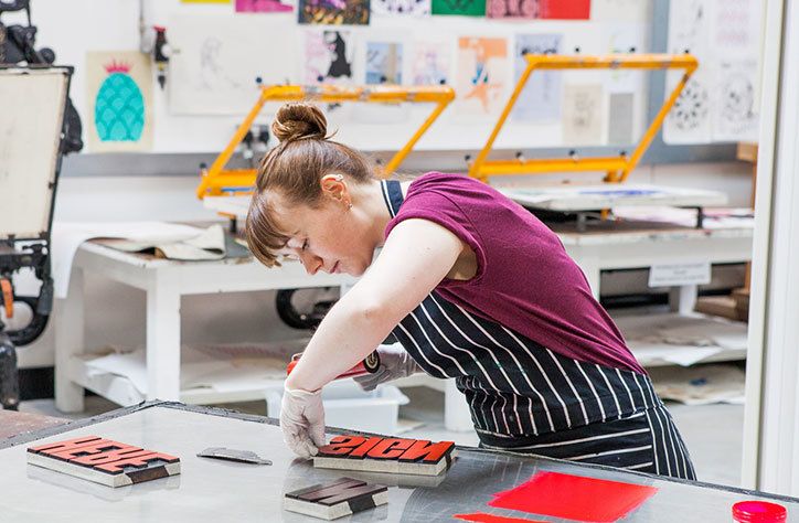 plymouth-college-of-art-printmaking-studio